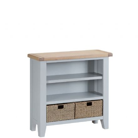 Toulouse Grey Small Wide Bookcase